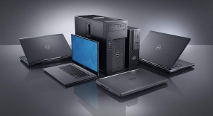 Dell Precision Precision Mini Tower (Model 3620, Farallon MT) and Small Form Factor (Model 3420, Farallon SFF) fixed workstations side by side, facing right, surrounded by Precision 7710 (Miramar) Non-Touch, 3510 (Park City P) Non-Touch, 5510 Touch (Berlinetta P) Non-Touch and 7510 (Miramar) Non-Touch mobile workstations.